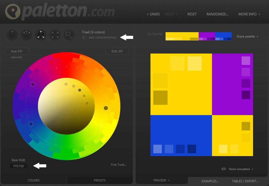 Kleuren combineren website