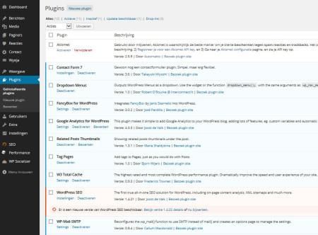 De functionaliteit van WordPress is uit te breiden met plugins