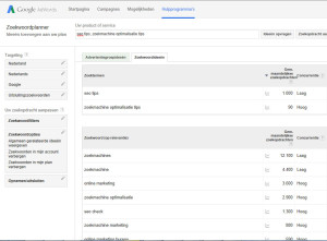 SEO tips - zoekwoorden bepalen