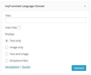 mqtranslate language chooser