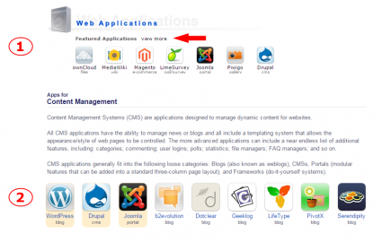 wordpress automatisch installeren via DirectAdmin