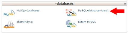 wordpress installeren database aanmaken in cpanel