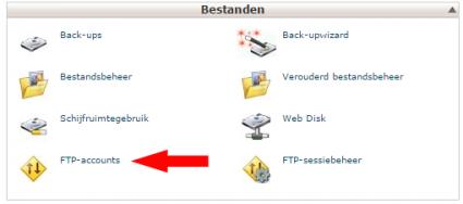 wordpress installeren - ftp account cpanel