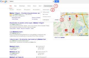 hoe hoog sta ik in google lokale zoekresultaten