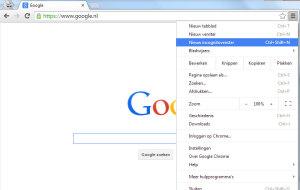 hoog sta ik in google incognito