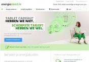 EnergieDirect gebruikt een lichte groen tint als steunkleur op een witte website, wat zorgt voor een lekker frisse uitstraling