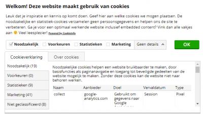 cookiemelding gdpr